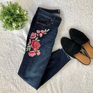 KUT Connie Ankle Skinny Jeans w/ Embroidery - NWOT